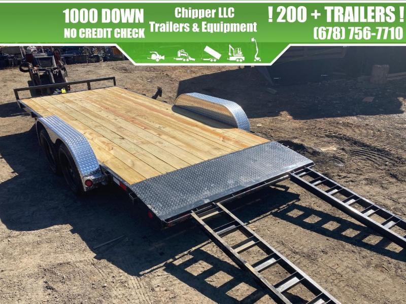 2021 PJ 7x18 7K Equipment Trailer Slide Out Ramps