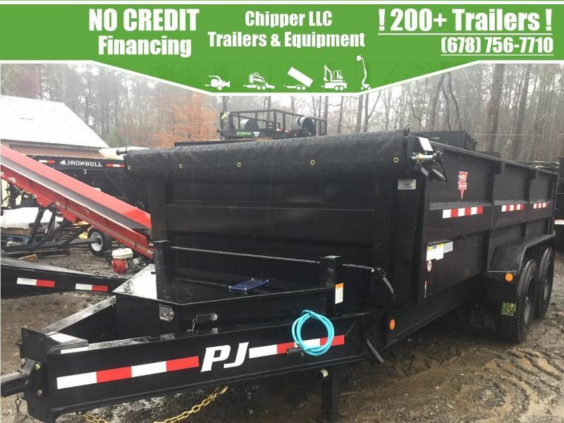 2021 PJ 7X16 3FT 20K 10 TON HD HYDRAULIC JACK LOW PRO DUMP TRAILER