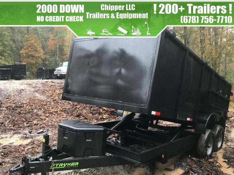 2021 Stryker Trailers 7x14 14K 7 Ton Ramps Spreader Gate Dump Trailer Dump Trailer