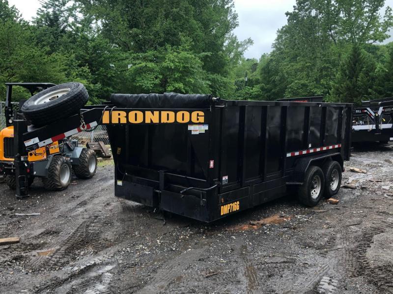 2017 Irondog Trailers 7x16 4FT 14K 7 Ton Gooseneck Dump Dump Trailer