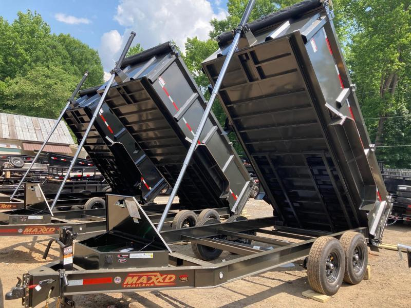 2021 MaxxD 7x16 3ft 16k 8 Ton Ramps Low Pro Telescopic Dump Trailer