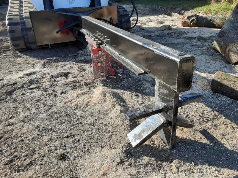2020 Ramsplitter Skid Steer 6-Way Inverted Log Splitter Skid Steer Attachment