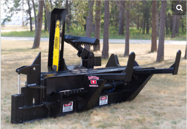 2021 Halverson Skid Steer Mounted Firewood Processor with 4 way Adjustable, HWP-150-4A Log Splitters Skid Steer Attachment