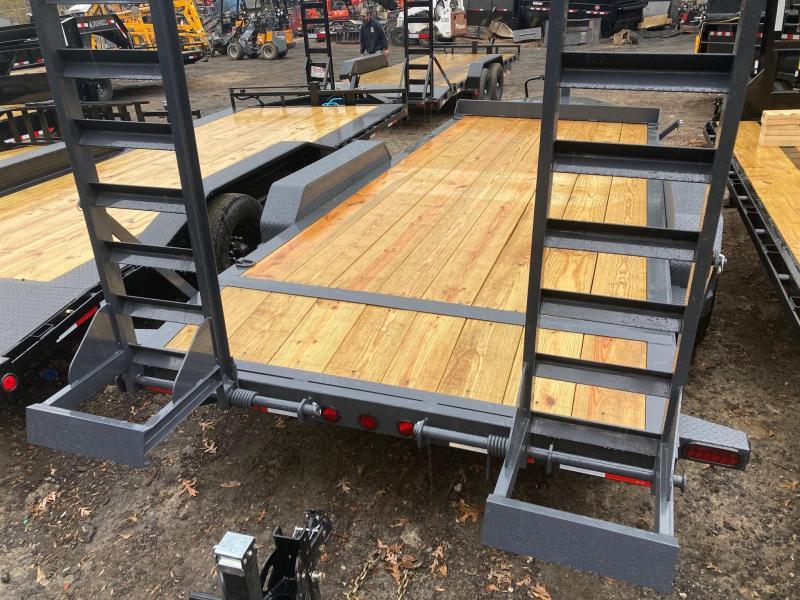 2022 Ironbull 7x18 14k 7 Ton HD I-Beam Equipment Trailer Ramps Equipment Trailer