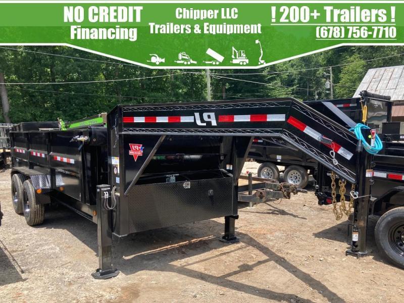 2021 PJ Trailer 7x16 20k 10 Ton Gooseneck Hydraulic Jacks Ramps 7 gauge
