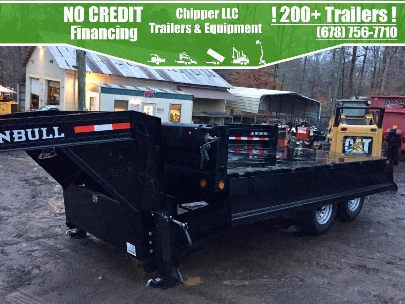 2022 Iron Bull 8x16 14K Gooseneck Fold Down Sides Deckover Dump Dump Trailer