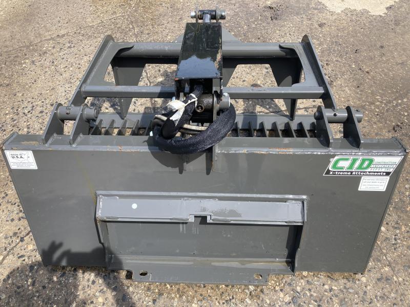 """2021 48"""" Single Cylinder Rock Grapple CID DROKGB48 Mini Skid Steer Universal Attachment"""