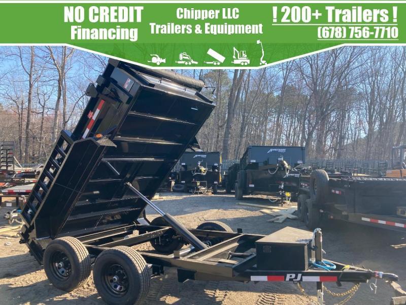 2021 PJ 5x10 10K 2ft Barn Door Dump Trailer