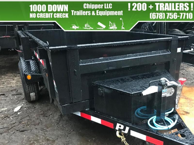 2021 PJ 5x10 7K Barn Door Ramps Dump Trailer