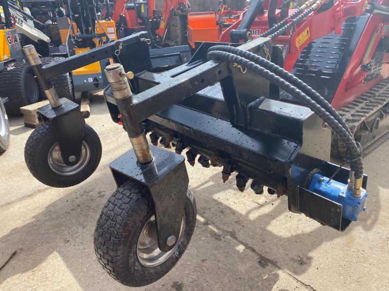 "2021 Iron Rhino 55"" Dingo Power Rake, Soil Cultivator, Harley Rake Mini Skid Universal Attachment"
