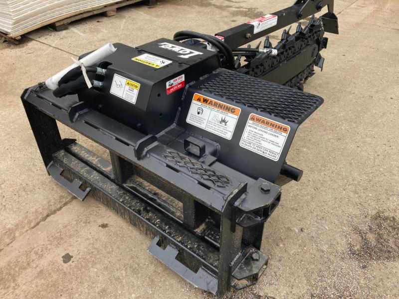 """2021 48""""x6"""" Trencher - LOWE XR21 with Rock/Frost Chain- Skid Steer Attachment"""