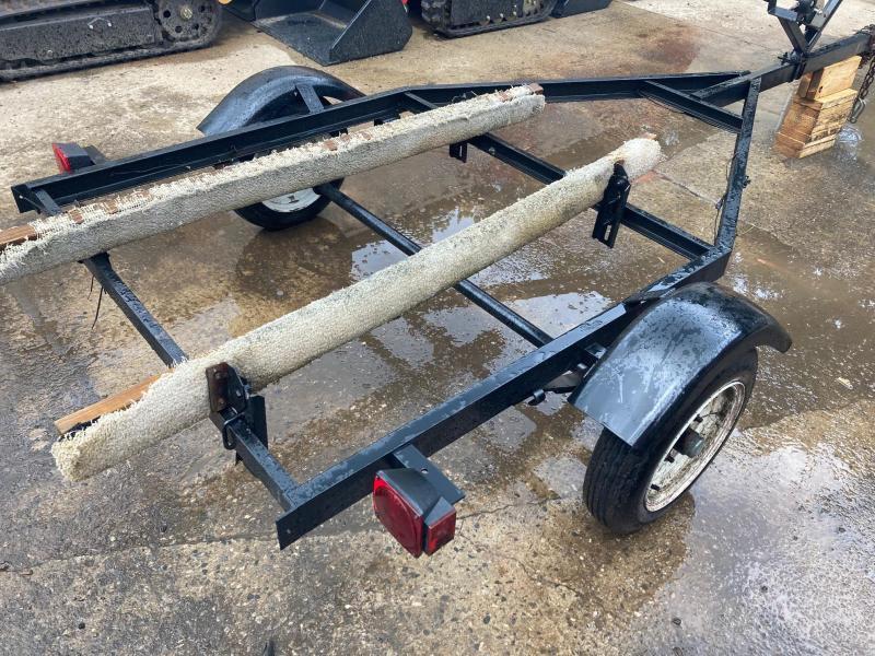 Jet Ski Trailer Adjustable LEDs Single Axle Channel Frame Watercraft Trailer