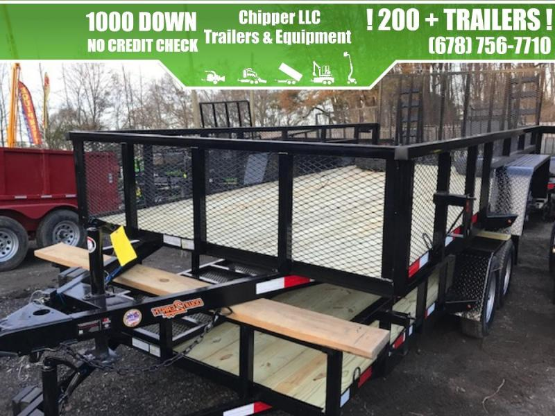 2021 Down To Earth 6.5x16 7K 2ft Mesh Sides Tandem Utility Trailer