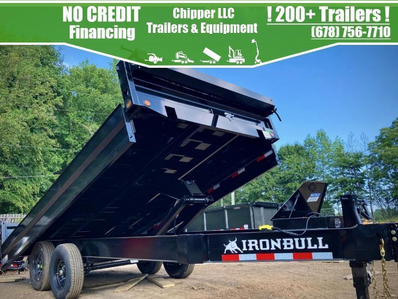 2022 Iron Bull 8x16 14K Fold Down Sides Deckover Dump Dump Trailer