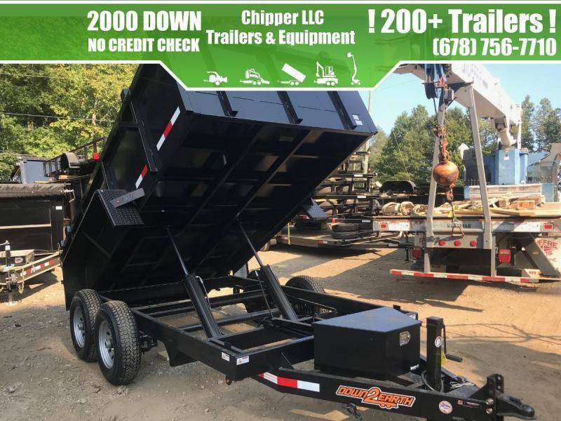 2021 Down To Earth 6x12 10K 2ft Barn Door Spread Gate Dump Trailer