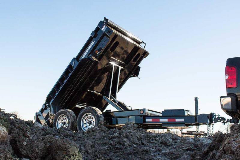 2022 Iron Bull 5X10 2ft 10k 5 Ton Scissor Ramps Dump Trailer