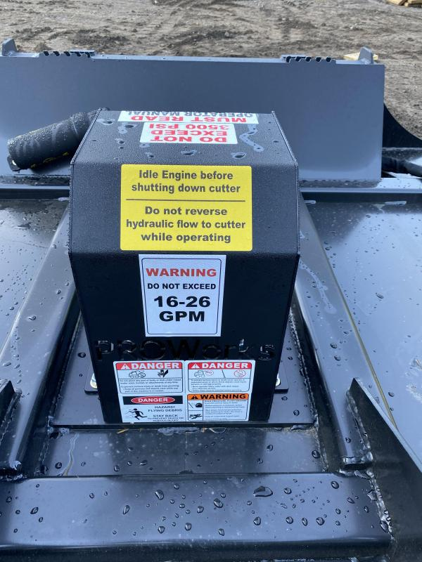 """2021 Proworks 72"""" Direct Drive Mower Skid Steer Attachment"""