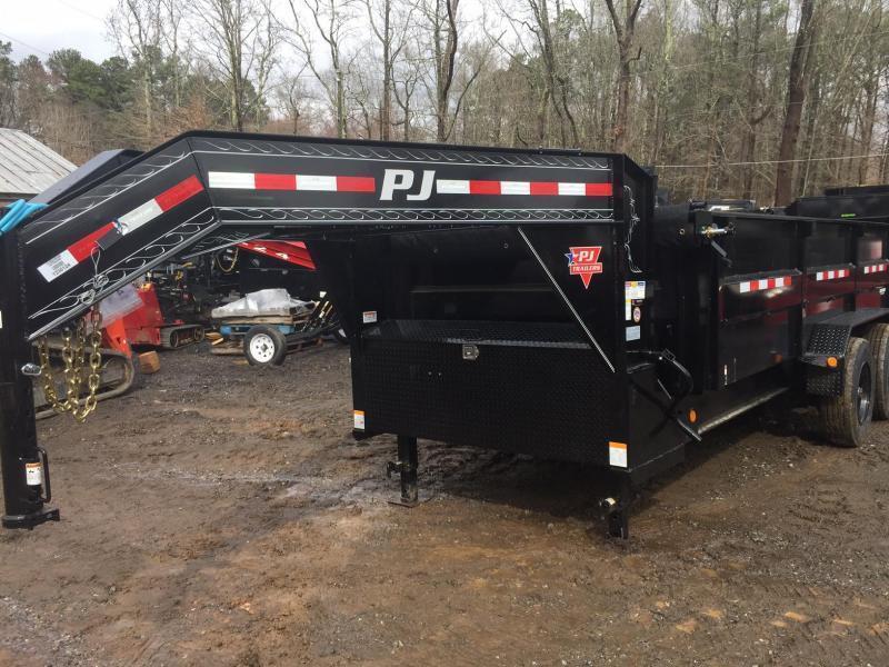 2022 PJ Trailer 7x16 3ft 20k 10 Ton Gooseneck Ramps Hydraulic Jack
