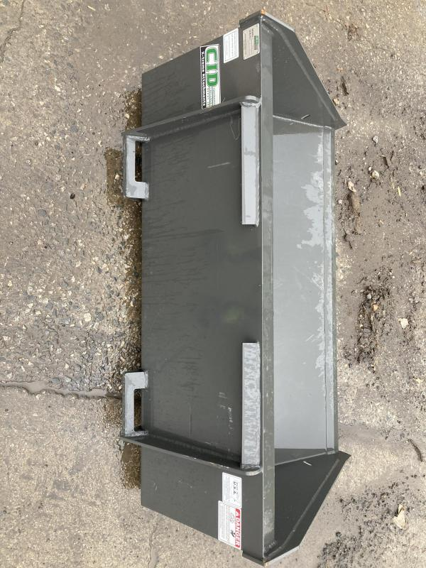 "2021 54"" Long Bottom Bucket CID MTLPB54 MT55/MT85 Mini Skid Steer Attachment"