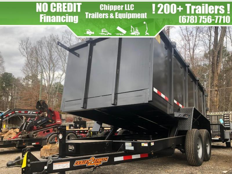 2021 Down To Earth 6x12 10K 4ft Barn Door Spread Gate Dump Trailer