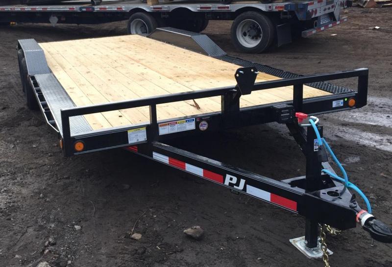 2021 PJ 8.5x22 10K Drive Over Fender Equipment Trailer Slide Outs