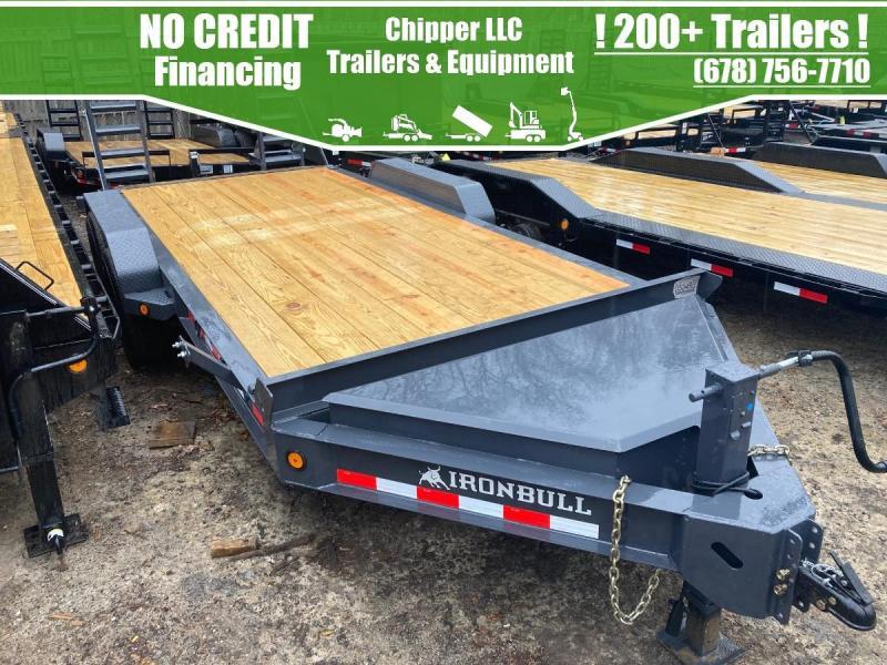 2021 Ironbull 7x18 14k 7 Ton HD I-Beam Equipment Trailer Ramps Equipment Trailer