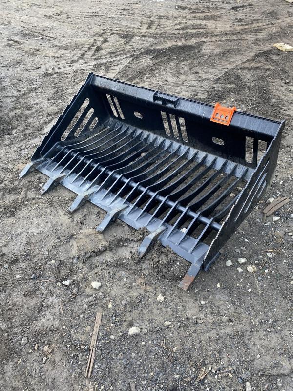 "2021 68"" Skid Steer Depot Rock Bucket With Teeth RBT80 Bucket Skid Steer Attachment"