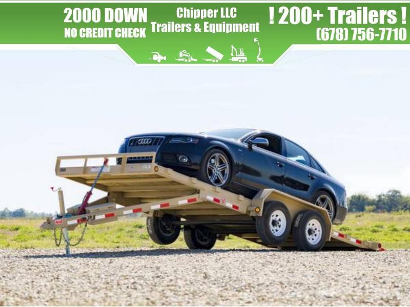 2021 PJ 7x22 10K Full Deck Power Tilt Equipment Trailer