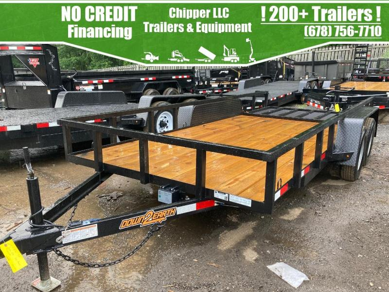 2021 Down To Earth 6.5x16 7K 1ft Sides Utility Trailer