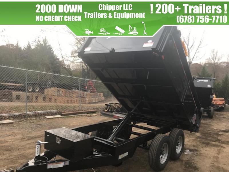 2021 Homesteader 6x10 7K 2ft Curbside Barn Door Dump Trailer