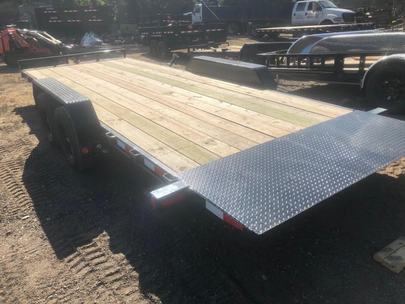 2022 PJ Trailers 7x22 10K Full Deck Power Tilt Equipment Trailer Car / Racing Trailer