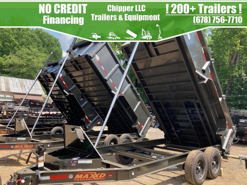 2021 MaxxD 7x14 3ft 16k 8 Ton Ramps Low Pro Telescopic Dump Trailer