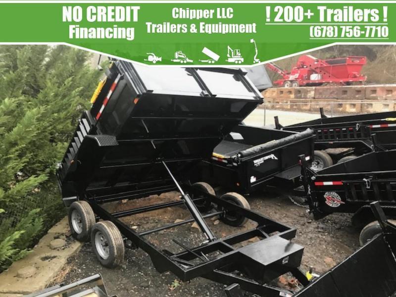 2021 Homesteader 7x10 7K 2ft Barn Doors Ramps Dump Trailer
