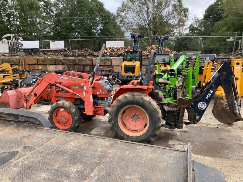 2001 Kubota M4900 Loader Backhoe 4x4 54HP Tractor Front End Loader
