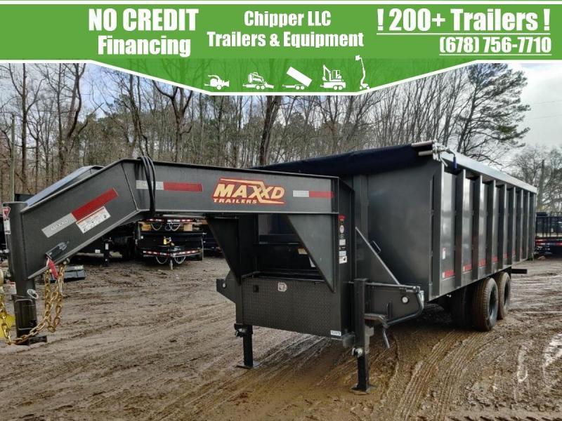 2021 MaxxD 8x20 22.5K 4ft Gooseneck Dual Tandem Dump Trailer