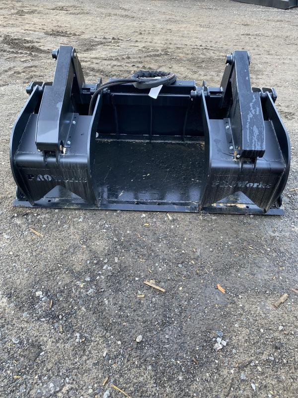 """2021 72"""" Proworks HD Solid Floor Grapple Smooth HDG72 Grapples Skid Steer Attachment"""