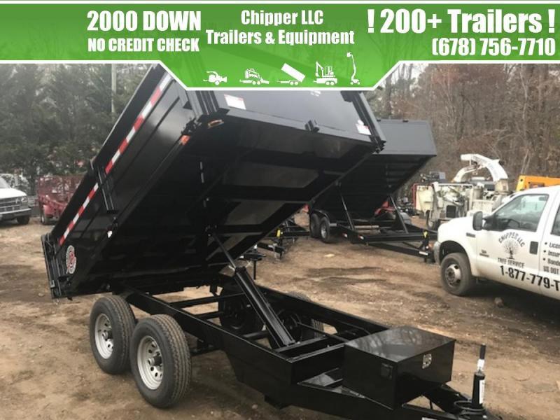 2021 Homesteader 6x12 7K 2ft Barn Doors Dump Trailer