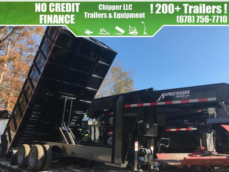2021 Homesteader 8x18 24K 12 Ton Gooseneck Dump Trailer