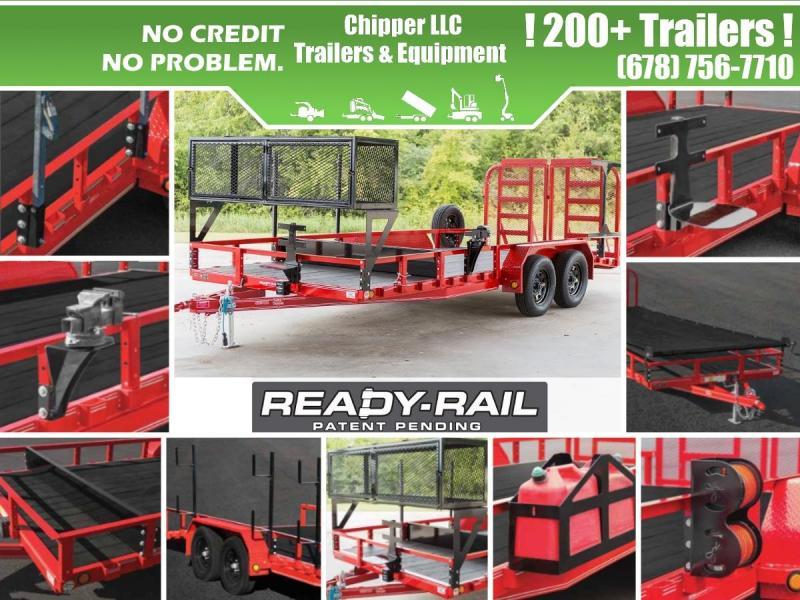2021 PJ 7x16 7K 1ft Open/Removable Sides Tandem Utility Trailer