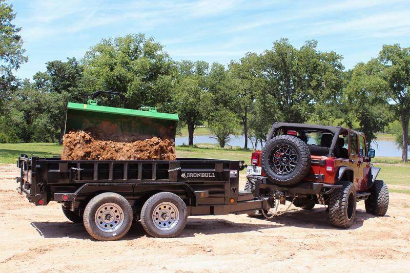 2022 Iron Bull 5X10 2ft 10k 5 Ton 7 Gauge Ramps Dump Trailer