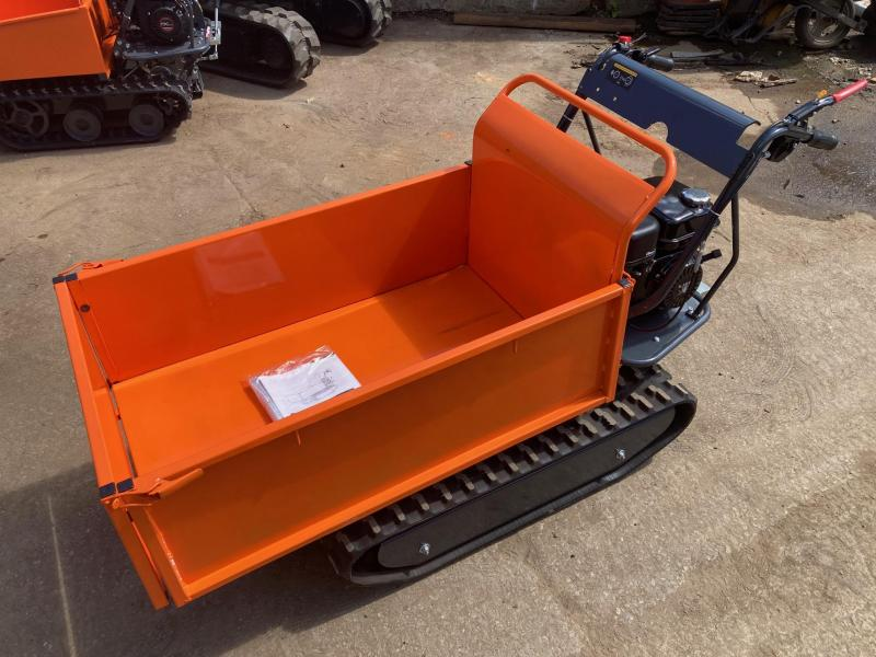 2021 1100# Track Powerbarrow Flatbed Dump Cart, 196cc, 6.5HP