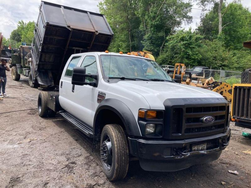 2008 Ford F450 XL Crew Cab Dump Truck, 2wd, 6.4L Diesel, Deleted, Automatic, 74k miles