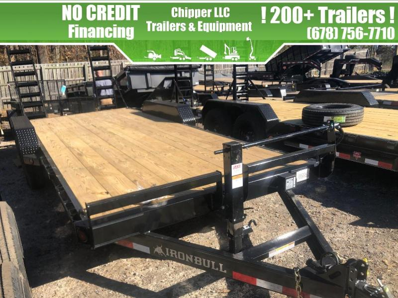 2021 Ironbull 7x16 14k 7 Ton Equipment Trailer Stand Up Ramps