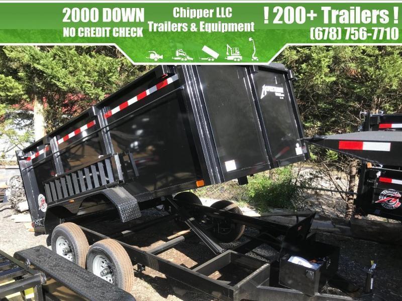 2021 Homesteader Trailers 7x12 10K 4ft 5 Ton Barn Doors Spread Gate Ramps Dump Trailer
