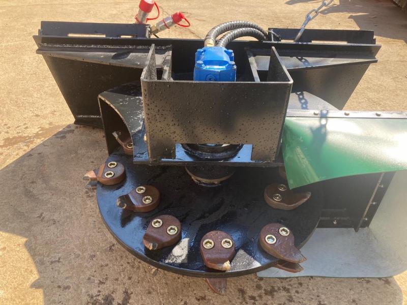 """2021 Iron Rhino 24"""" Stump Grinder Skid Steer Attachment"""