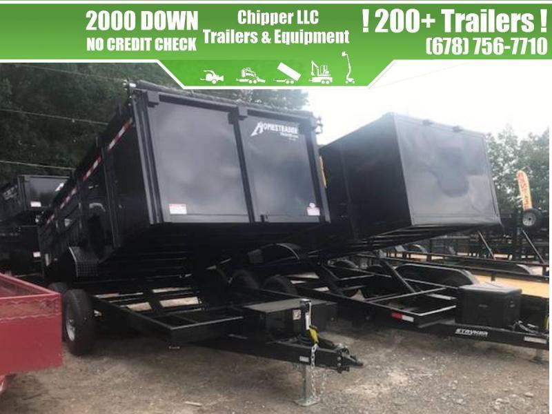 2021 Homesteader 7x14 14K 4ft Barn Door Dump Trailer
