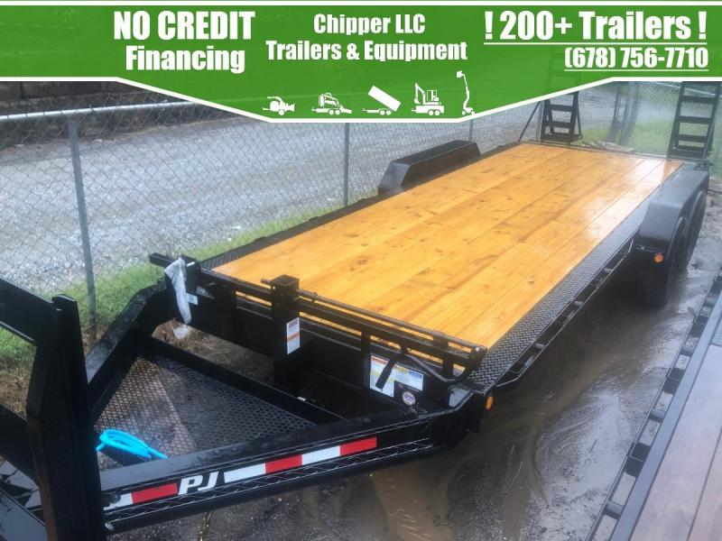 2021 PJ 7x20 16k Equipment Trailer Fold Up Ramps