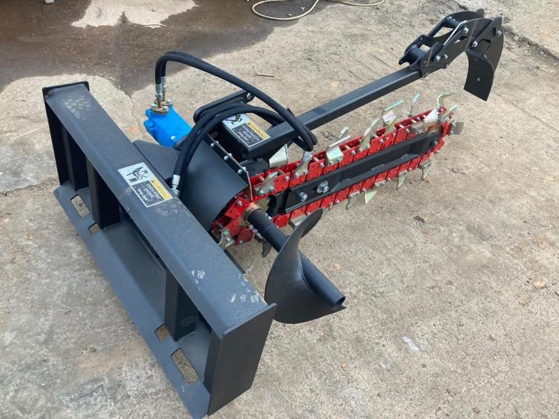 """2021 Iron Rhino 6"""" Direct Drive Trencher 48"""" long 6"""" trench width IR48TR Skid Steer Attachment"""