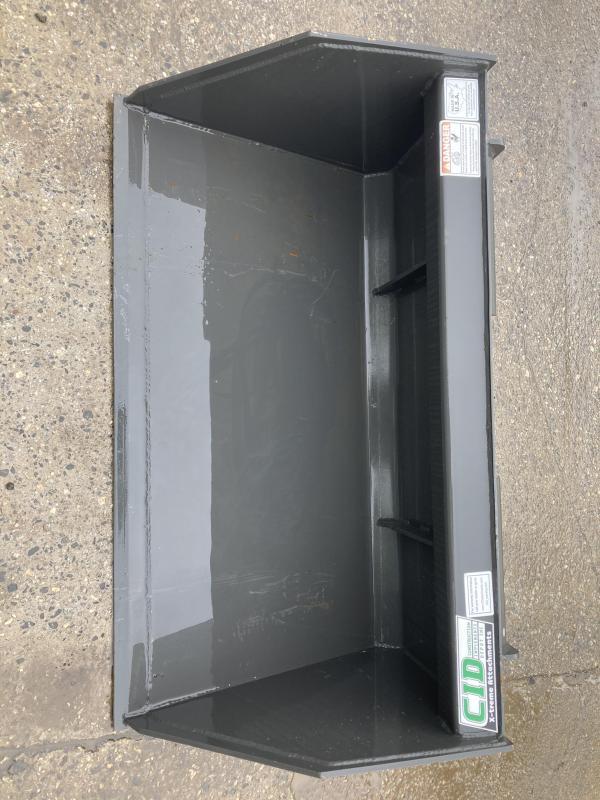 """2021 48"""" mulch bucket CID MTSNLB48 MT55/MT85 Mini Skid Steer Attachment"""