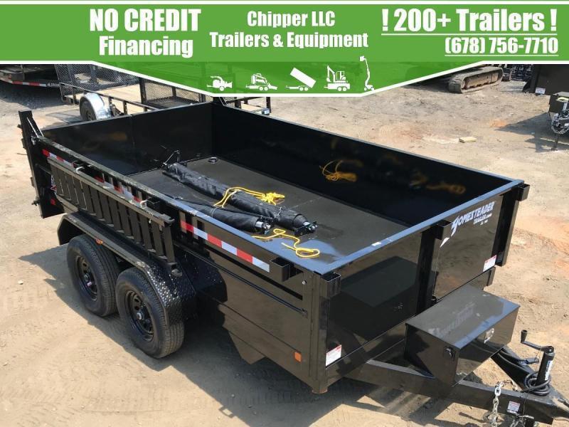 2021 Homesteader Trailers 7x12 10K 2ft 5 Ton Barn Doors Spread Gate Ramps Dump Trailer